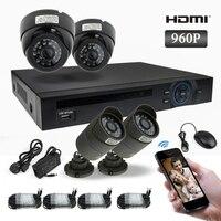 4 1 3MP HD IP CAMERA CCTV System 4CH FUII 960P NVR CCTV IP CAMERA KIT