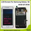 """1 pcs tela branca com quadro de alta qualidade 4.3 """"para samsung galaxy s2 i9100 de exibição lcd + touch screen digitador assembléia + ferramentas"""
