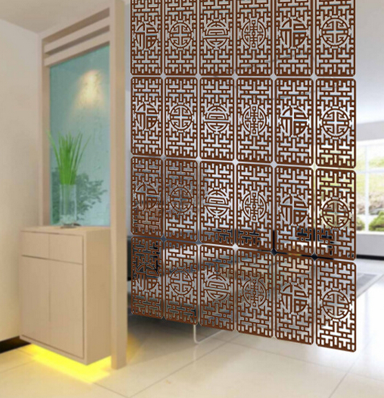 4PCS/LOT 39*19CM Screen Partition Fashion Entranceway Door Hanging Screen  Cutout Grilles Fashion Wall Stickers Tv Wall Stickers In Screens U0026 Room  Dividers ...
