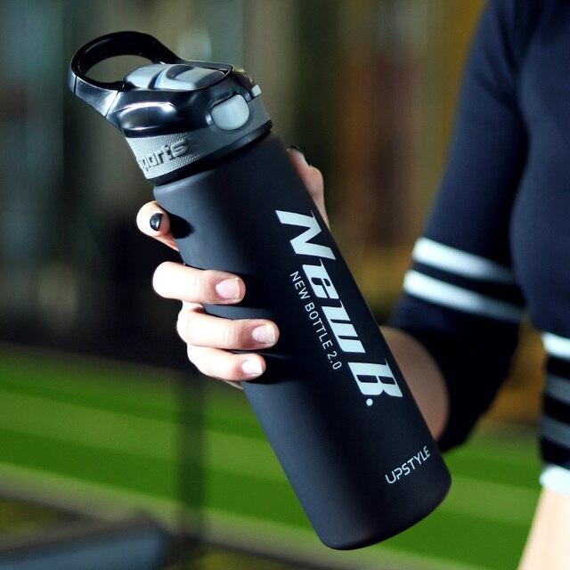 750/600ML açık seyahat taşınabilir Drinkware Tritan plastik peynir altı suyu protein tozu spor Shaker şişe su kamışlı şişeler