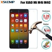 2.5D No Fingerprint Premium Tempered glass For XIAOMI 4i MI 4i M4i 4C 9H Real Screen Protector Glass Film Protective Guard Film