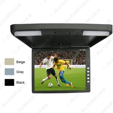 3-Color 13.3 Inch Car/Bus TFT LCD Roof Mounted Monitor Flip Down Monitor 2-Way Video Input 12V #J-1289
