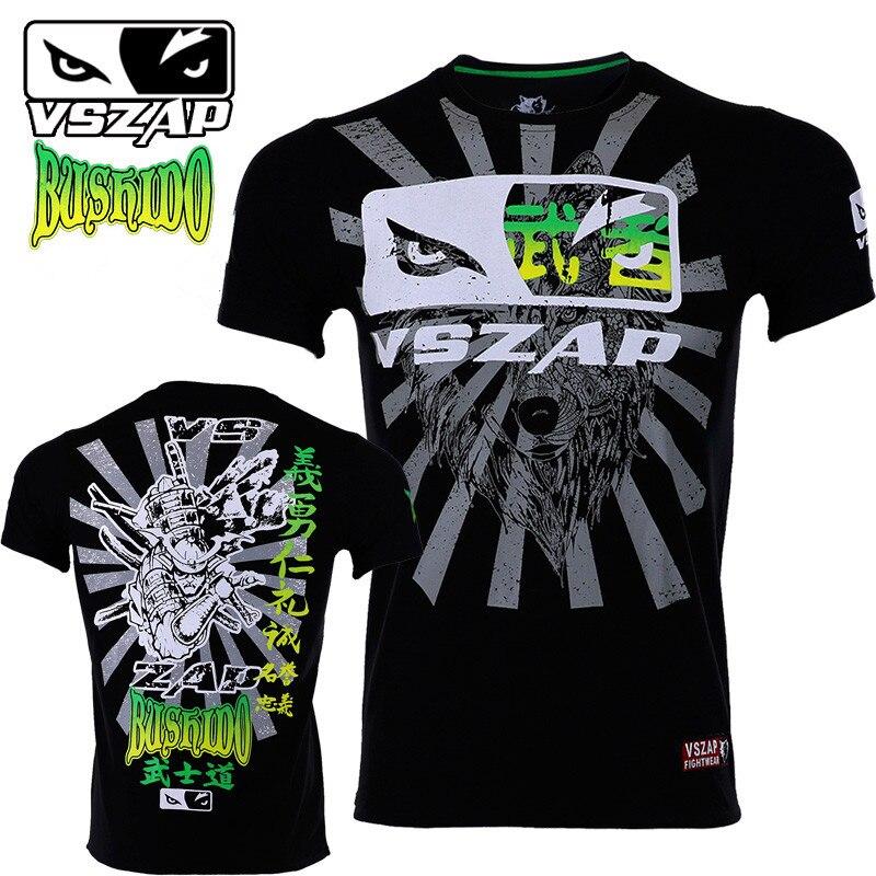 VSZAP MMA Clothing Shirt Gym Rashguard Fitness T Shirt Men Boxing Fightwear Tight Weight Lifting Muay Thai Tee Shirt