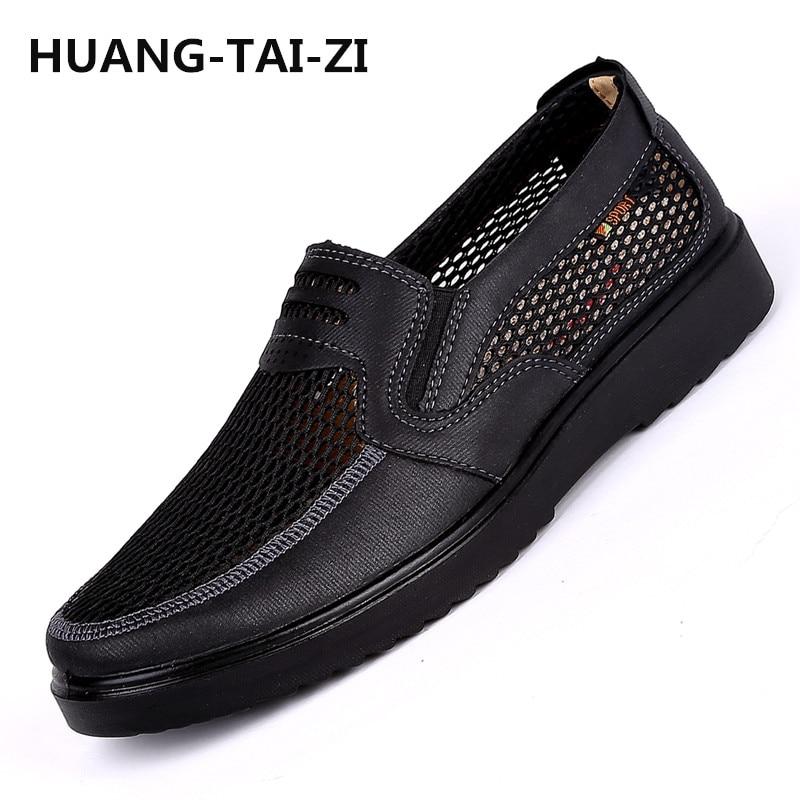 Hommes chaussures 2018 nouveaux arrivants hot mesh respirant Ultra-léger chaussures à lacets hommes baskets printemps confortable hommes vulcaniser chaussures 48 - 5