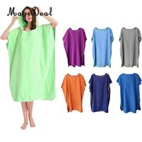 MagiDeal Beach Surf Poncho Wetsuit Changing Towel Robe with Hood Quick Dry Hooded for Surfing Swimming Pool Bathing Surfing