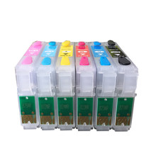 T0781-T0786 781 786 compatible Refillable Cartridge with ARC chips for EPSON RX580 R280 RX680 RX595 R380 printers(China)