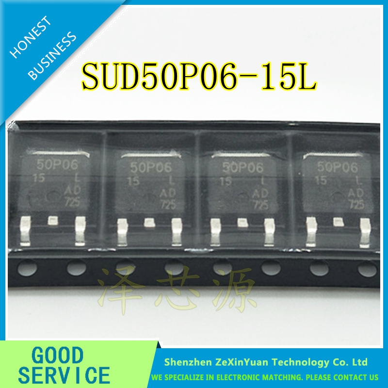 10PCS/LOT SUD50P06-15L 50P06-15 50P06 50A 60V P CHANNEL TO-252 MOS FIELD EFFECT TRANSISTORS10PCS/LOT SUD50P06-15L 50P06-15 50P06 50A 60V P CHANNEL TO-252 MOS FIELD EFFECT TRANSISTORS