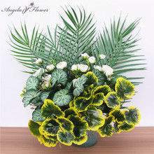 5 branches sea otter leaves artificial flowers home Christmas decor wedding set props decorative plants latex jellyfish leaf