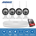 Annke 960 p nvr de $ number canales inalámbricos en/al aire libre cámara de red ip sistema de seguridad cctv 2 tb