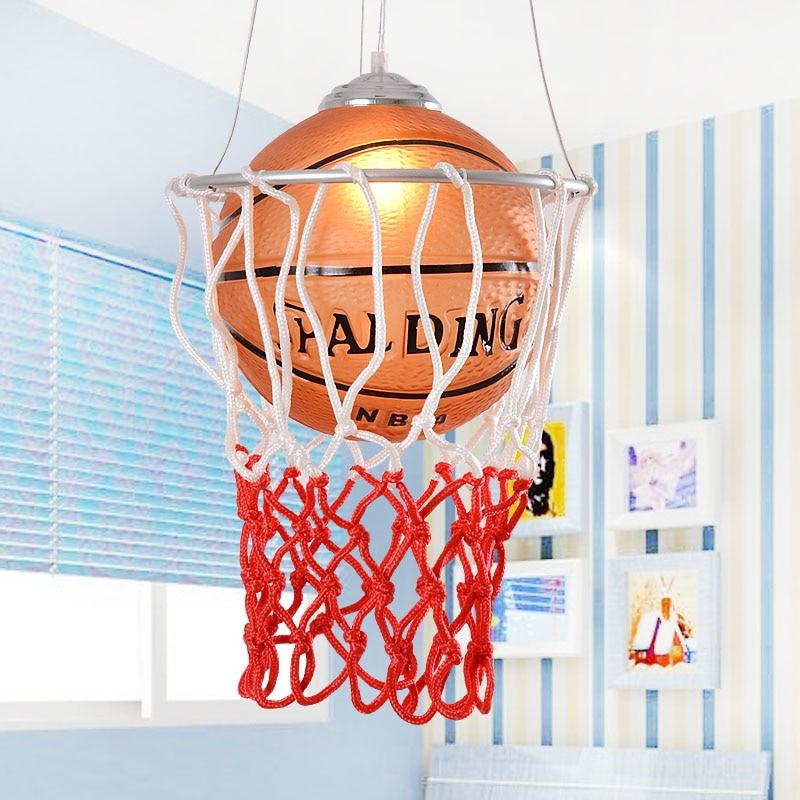 Basketball genuine special childrens room lighting fixtures minoxidil Iron led modern minimalist living room chandelier ET20