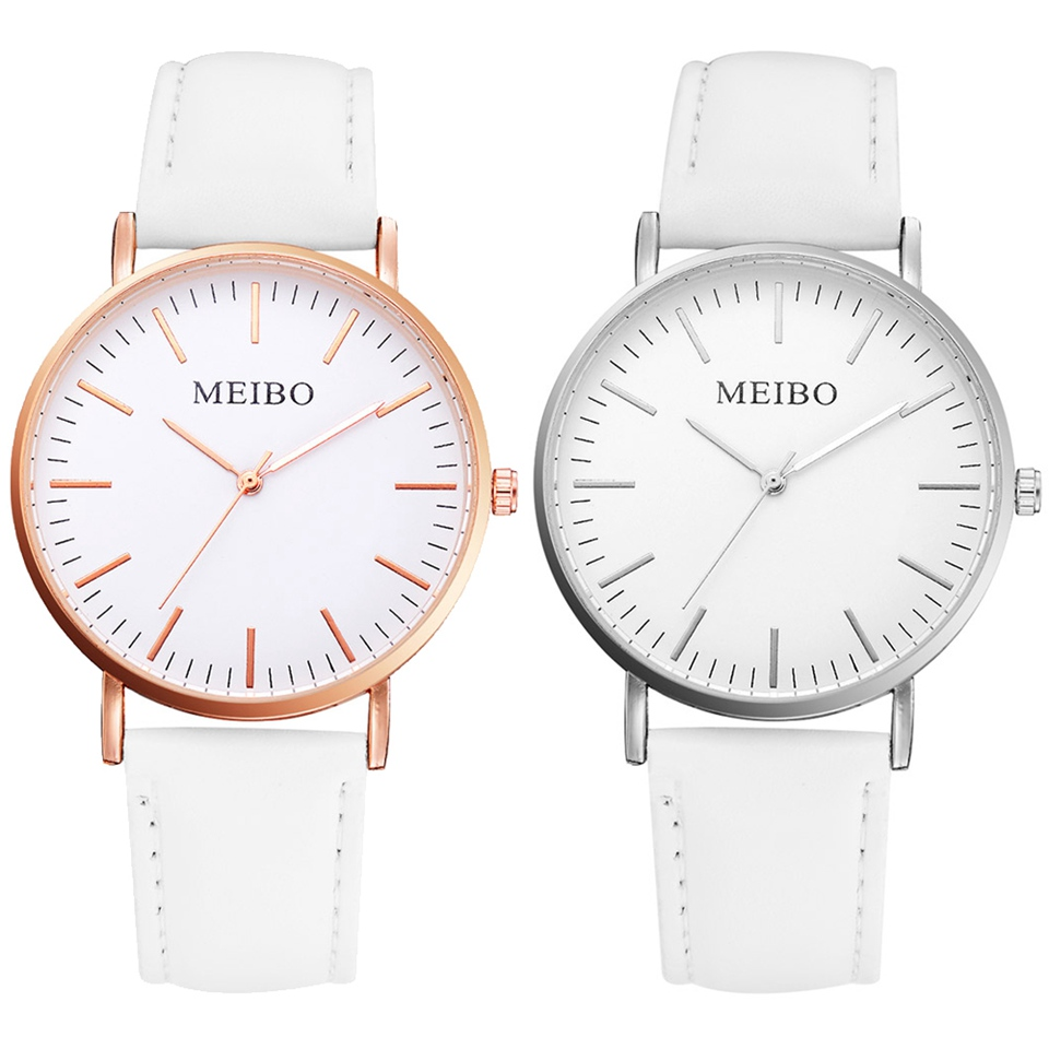 Women Leather Strap Watch Lovers Sport Dress Watches Ladies Quartz Simple Dial Quartz Watch Dropshipping Relogio Feminino