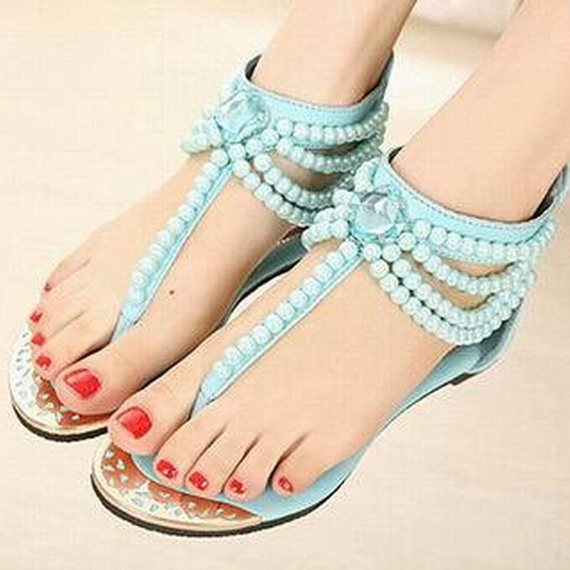 Handmade Sandals Bohemia Nice Woman Summer Shoes Flat Women dxroeBWQC