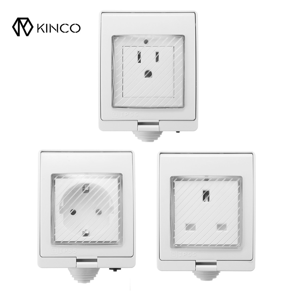 KINCO Waterproof Smart WiFi Power Socket Outlet Work For Alexa Google Home Remote Control Timer Switch 10A Outdoor neo coolcam wifi smart remote control power socket outlet timer support google home mini ifttt alexa for smart home automation