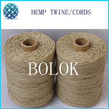 1.2mm beewaxed hemp cords 750feet,230m/spool 5pcs/lot, total 1150m , light color natural twine by free shipping