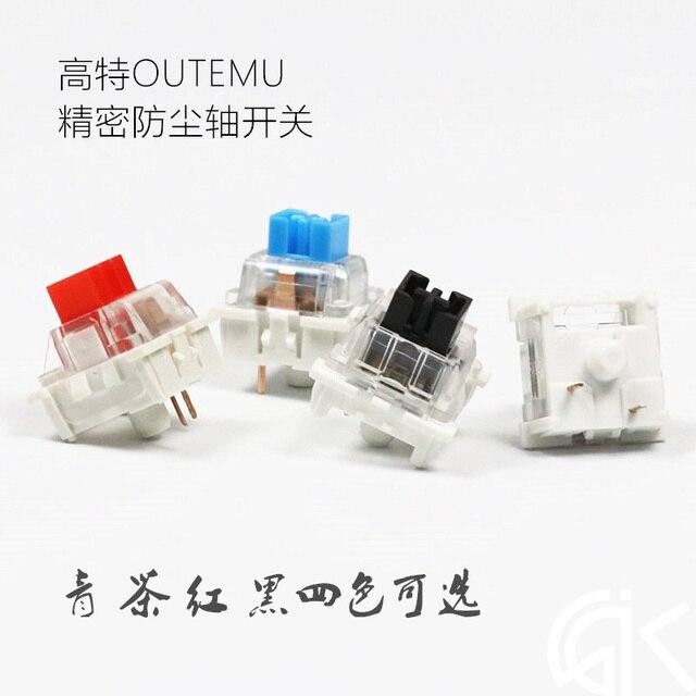 87 sztuk/110 sztuk OUTEMU pyłoszczelny przełącznik OUTEMU mechaniczne przełączniki w klawiaturze ciy czarny niebieski brązowy czerwony wał
