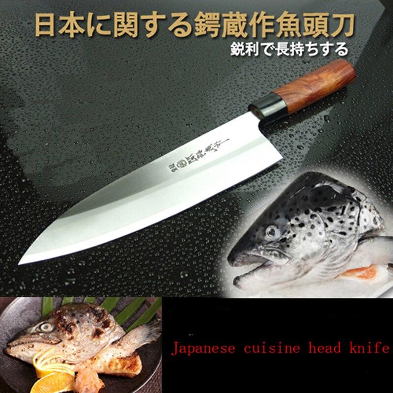 Livraison Gratuite De Haute Qualité Professionnelle Couteau à Poisson Japonais Style Lancette Sashimi Sushi Saumon Boeuf Couteau Cuisine Cleaver Couteaux