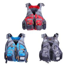 2 in 1 Waterproof Adult Fishing Life Jacket Safety Vest Waistcoat for Outdoor Fishing Boating Fishing Detachable Rescue Vest