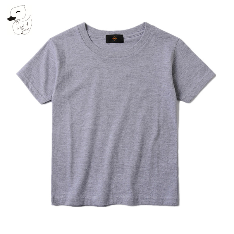 BINIDUCKLIN GBoys Girls T Shirt Solid Short Sleeve Baby Children T-shirts Tee Clothing New Brand Kids Summer TShirt 100% Cotton