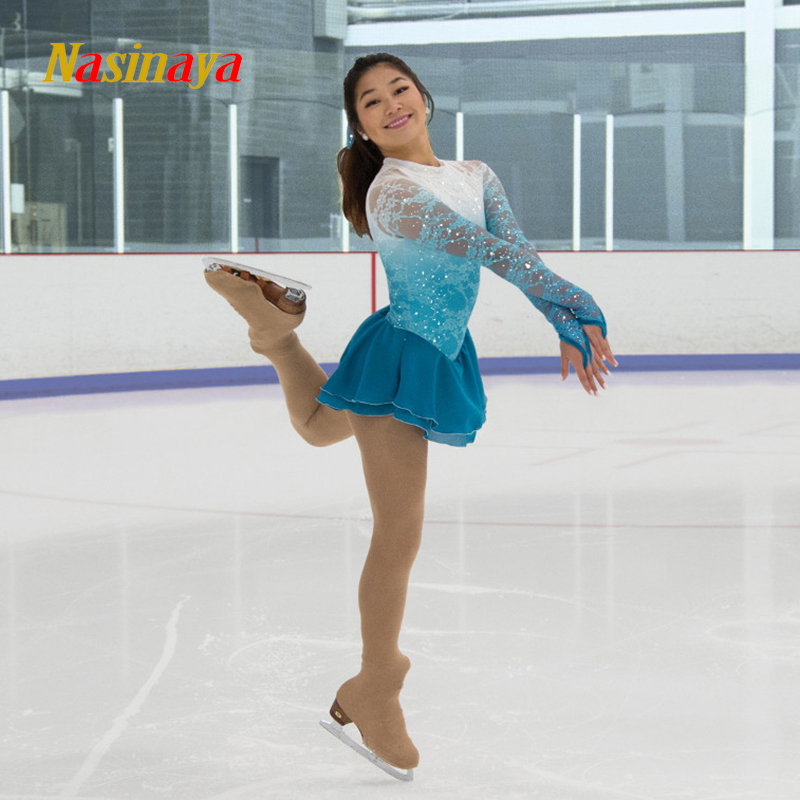 Nasinaya Figure Skating Dress Customized Competition Ice Skating Skirt for Girl Women <font><b>Kids</b></font> Patinaje <font><b>Gymnastics</b></font> Performance 249 image