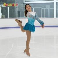 Nasinaya Figure Skating Dress Customized Competition Ice Skating Skirt for Girl Women Kids Patinaje Gymnastics Performance 249