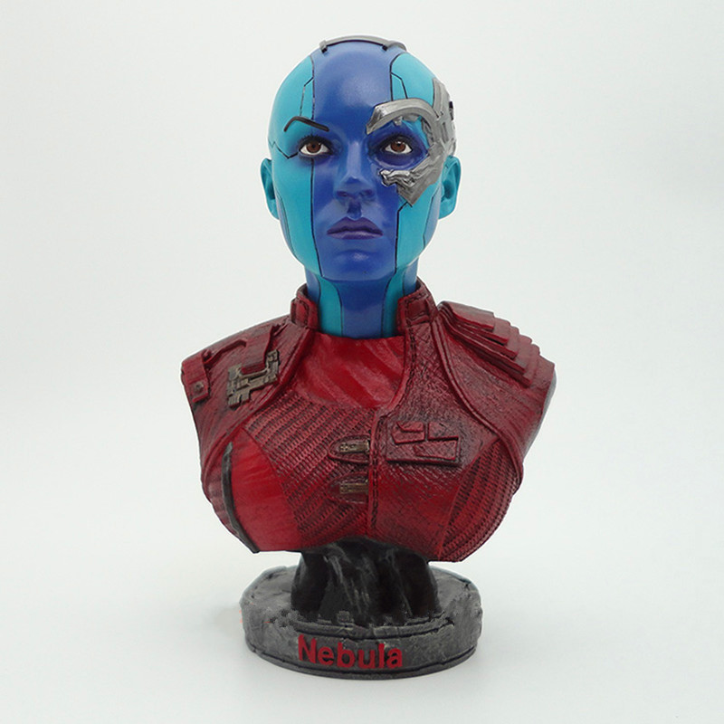 Avengers 3 Superhero GK Nebula Bust Mercenary Anti-hero Coyote Ragtime Show Action Figure Collection Model Toy L2374Avengers 3 Superhero GK Nebula Bust Mercenary Anti-hero Coyote Ragtime Show Action Figure Collection Model Toy L2374