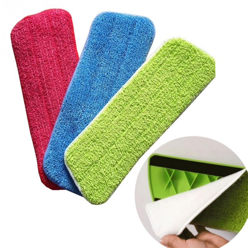 Microfiber Pads Spray Water Spraying Flat Dust Mop Floor Cleaning Replacement