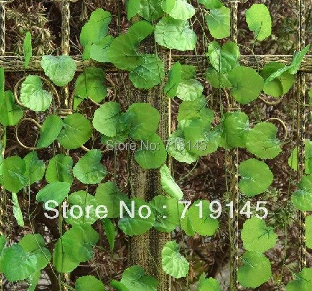 60 pcs 2.4 m aureus scindapsus artificial folhas de videira Malus spectabilis videira videira plantas jardim de casa decoração