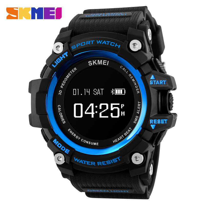 <font><b>SKMEI</b></font> Mens Smart Bluethooth Watches Fashion Luxury Sport Army Outdoor Digital Watch Military Men 5Bar Waterproof Wristwatch image