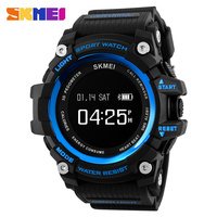 SKMEI Mens Smart Bluethooth Watches Fashion Luxury Sport Army Outdoor Digital Watch Military Men 5Bar Waterproof Wristwatch