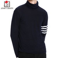John S Bakery Brand 2017 New Fashion Autumn Casual Sweater Solid Color Turtleneck Slim Fit Knitting