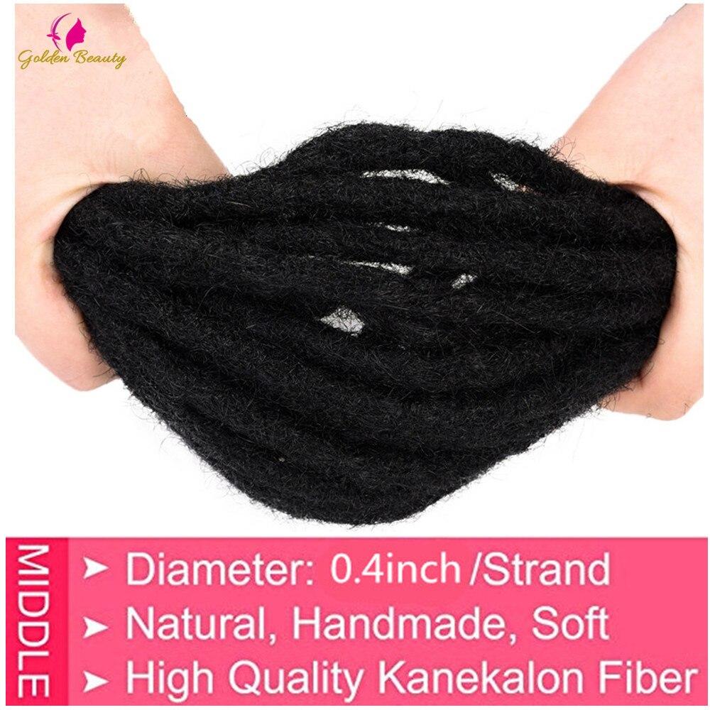 "Golden Beauty 6"" 10"" Handmade Dreadlocks Hair Extensions 5strands Synthetic Dreadlock Crochet Hair For Women Men 3"