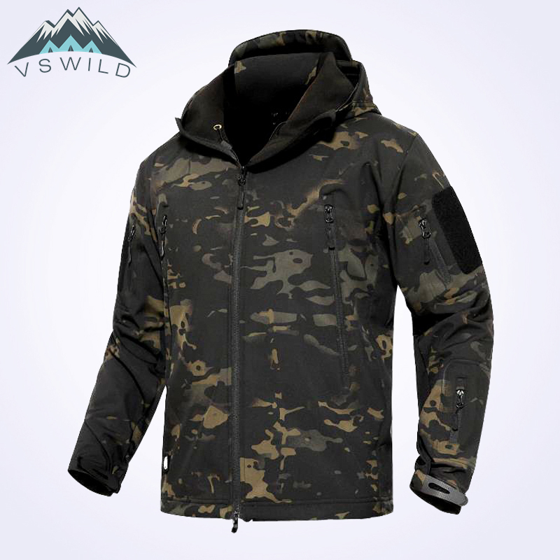 Men Softshell Hiking Jacket Windproof Warm Mountaineer Outdoor Waterproof Men's Coat Multicolor Camping Camo Windbreakers sale winter windproof waterproof outdoor jacket men softshell women sportswear warm camping hiking jackets antistatic male coat