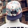 Himanjie unisex fashion caps floral ajustable snapback caps sombreros de béisbol 2016 de la venta caliente unisex sportship hop plana gorras de béisbol
