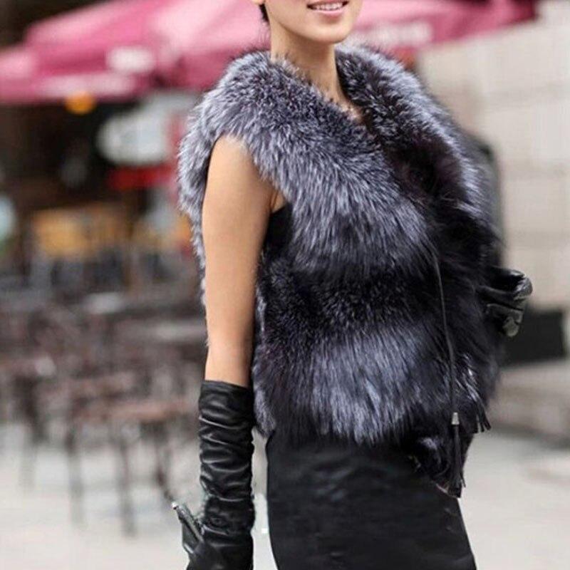 Actu Un Femmes Fox Renard Gilet Dames Printemps Manteau Pele Nouveau Taille Grande Vraiment 3 De Argent Cox Colete Silver Fourrure 2016 wagTqR0E