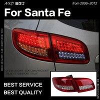 AKD автомобильный Стайлинг для hyundai Santa Fe задние фонари 2006 2012 SantaFe светодиодный задний фонарь дневные ходовые огни тормоза Обратный Авто аксес