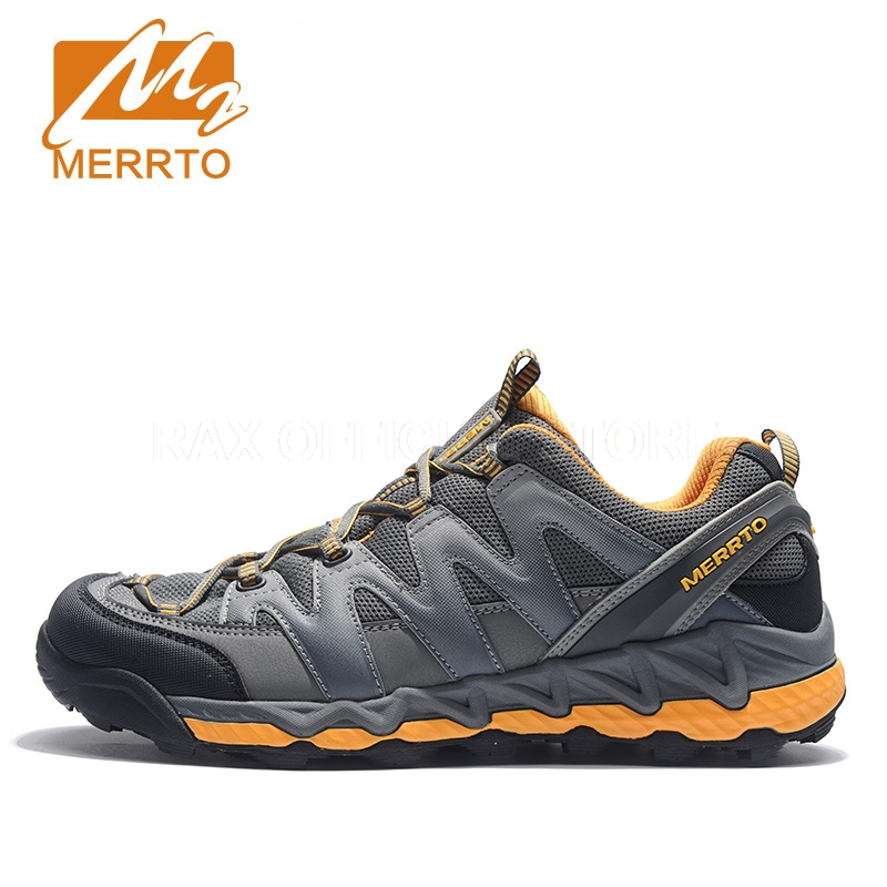 Merrto Hiking Shoes For Men Women Outdoor Breathable Mens Hiking Boots Sports Sneakers Mountain Climbing Trekking Shoes For Men 2018 merrto women hiking boots waterproof outdoor sports shoes full grain leather plus velvet for women free shipping 18001