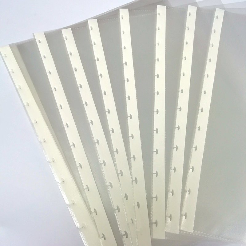 A4 Loose Leaf PVC Storage Holder Mushroom Hole Pockets Filing Notebook Binding Inner Page Filler Transparent Document Bag Pouch