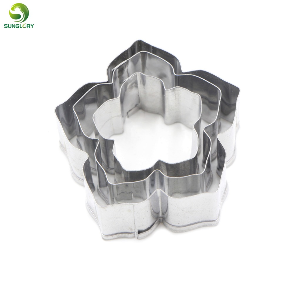 3PCS rostfritt stål Petunia Flower Cutters Set Metal Petal Cookie Cutter Baking Gum Pasta Mögel Blommor Fondant Cutter Mould Tool