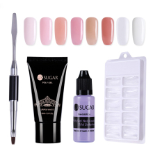 UR SUGAR Pink Poly Gel Nail Builder Gel Varnish Polish Set Quick Nail Extension Polygel Hard Gel Camouflage UV LED lacquer