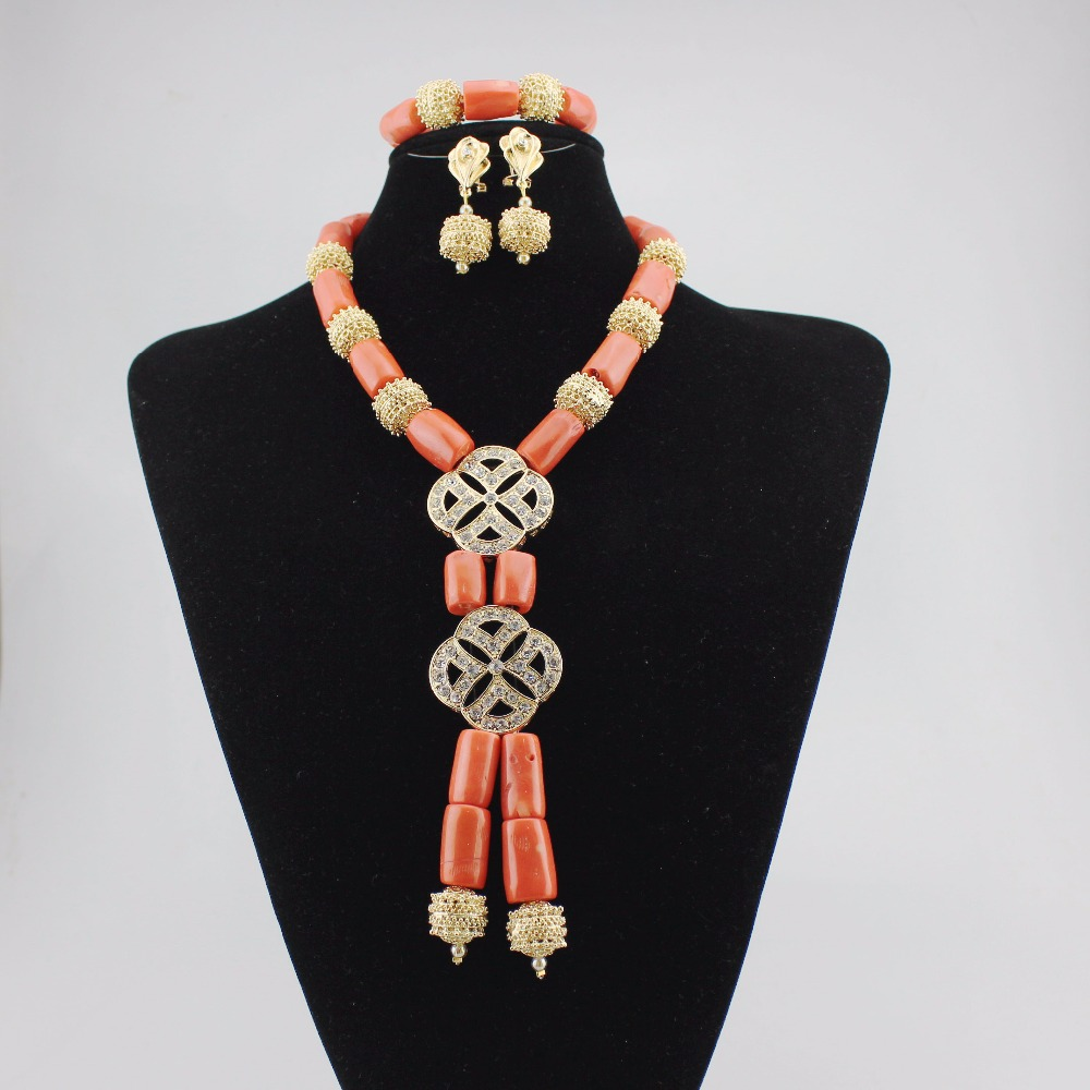 Fashion African Wedding Women Coral Beads Bib Jewelry Set New Costume Bridal Necklace Set Hot Free Shipping CL109-1Fashion African Wedding Women Coral Beads Bib Jewelry Set New Costume Bridal Necklace Set Hot Free Shipping CL109-1