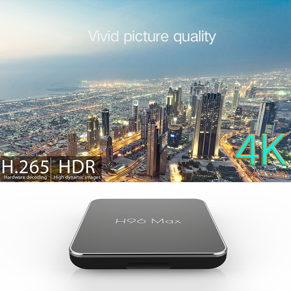 Android tv set top box smart console H96 MAX X2 tv boxes 4GB 64GB 4K X96Max S905X2 Quad Core smart tv box support youtube in Set top Boxes from Consumer Electronics