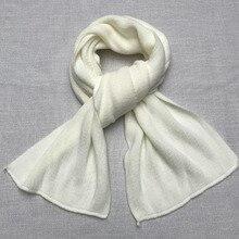 3548a147f1ef50 Männer Einfarbig Schal Stricken Kaschmir Unisex Dicke Warme Winter Lange  Größe Schals Männlichen Mode Schwarz Weiß