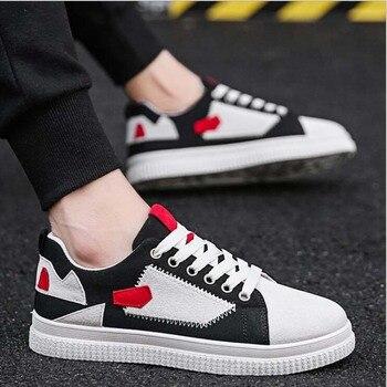 b14d1323 2019 nuevos zapatos casuales para Hombre Zapatos de lona para hombre con  cordones transpirables moda verano