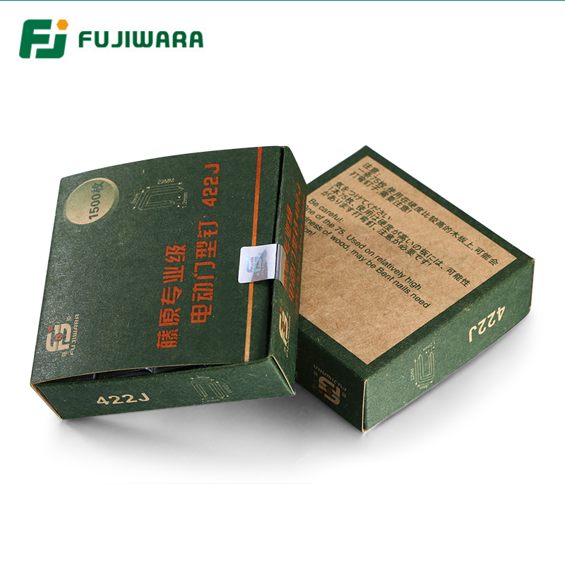 FUJIWARA Nailer Stapler Nails Straight Nail, U-nail, F15/F20/ F25/ F30(15-30MM) 422J U-(4mm width,22mm length)(China)