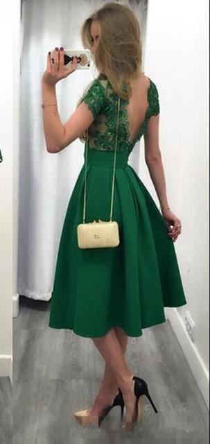 a lijn jurk groen