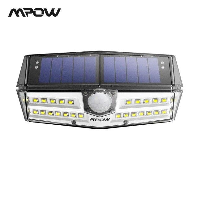 Mpow CD137 30 LED Jardin Solaire Lumières IPX7 Étanche Solaire Lampe Large Angle Solaire Motion Sensor Pour Voie Garage/ piscine