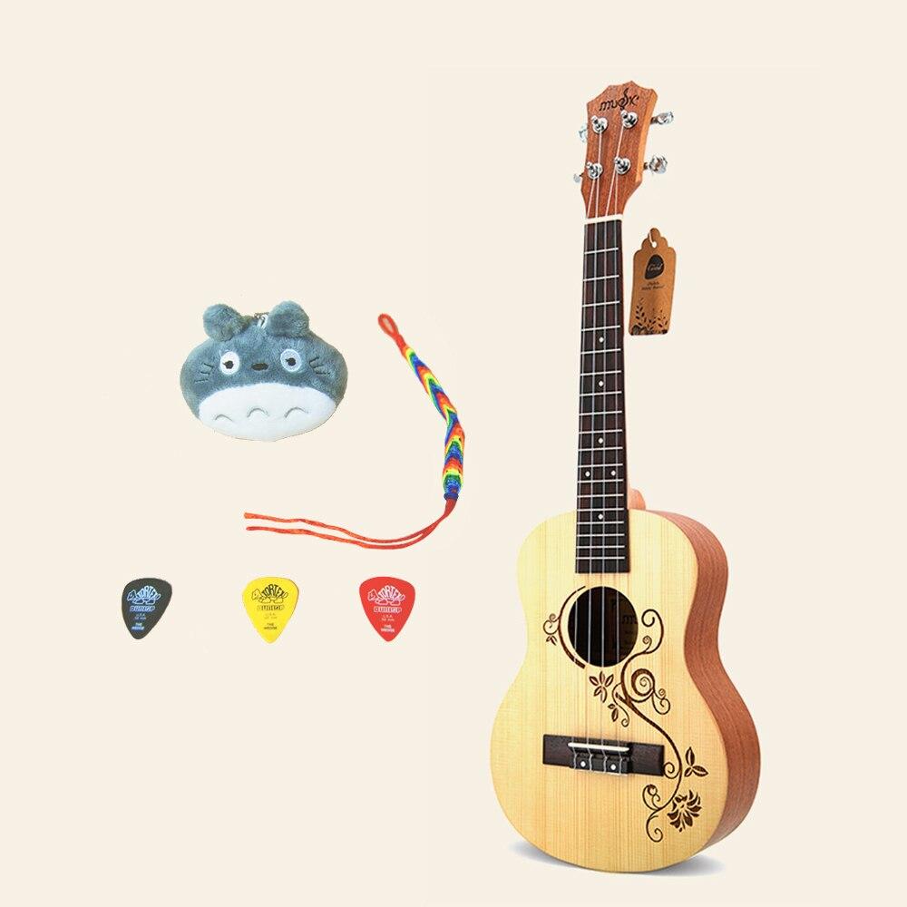 23 ukulélé Palissandre 4 Cordes Mini guitare Ukulélé Hawaii Guitare Ukulélé Concert pour Enfant cadeau musique UK02