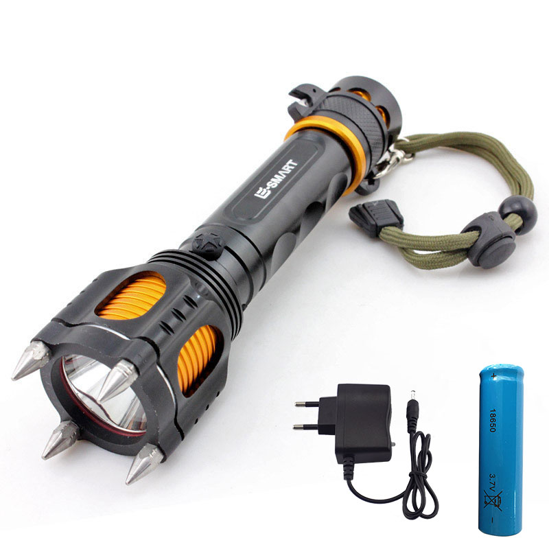 CREE XM L2 Tactical led flashlight multi-function defensive flash light lampe torche with 18650 battery With charger for hunting