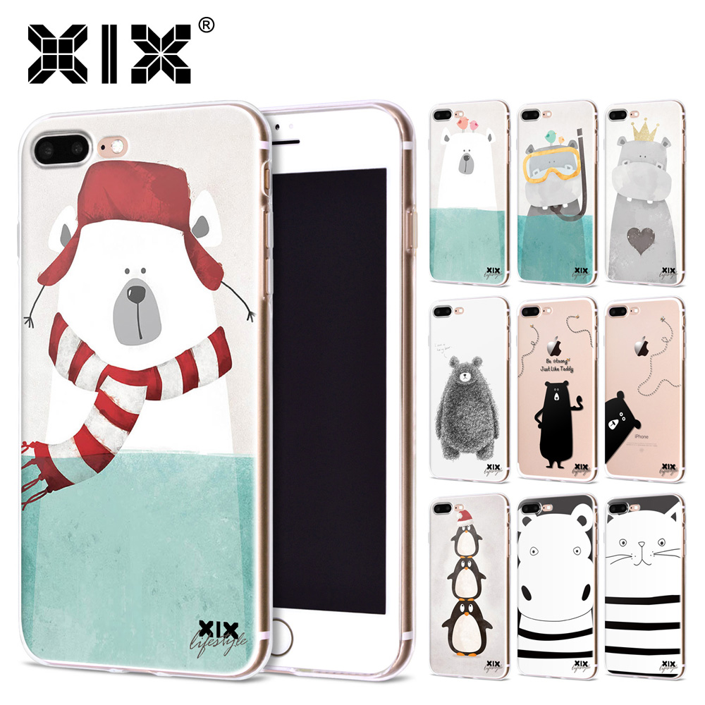 XIX for Funda iPhone 5S case 6 8 X Cute Bears Soft Silicone TPU for Cover iPhone 6S Case New Arrivals for Coque iPhone 7 Case