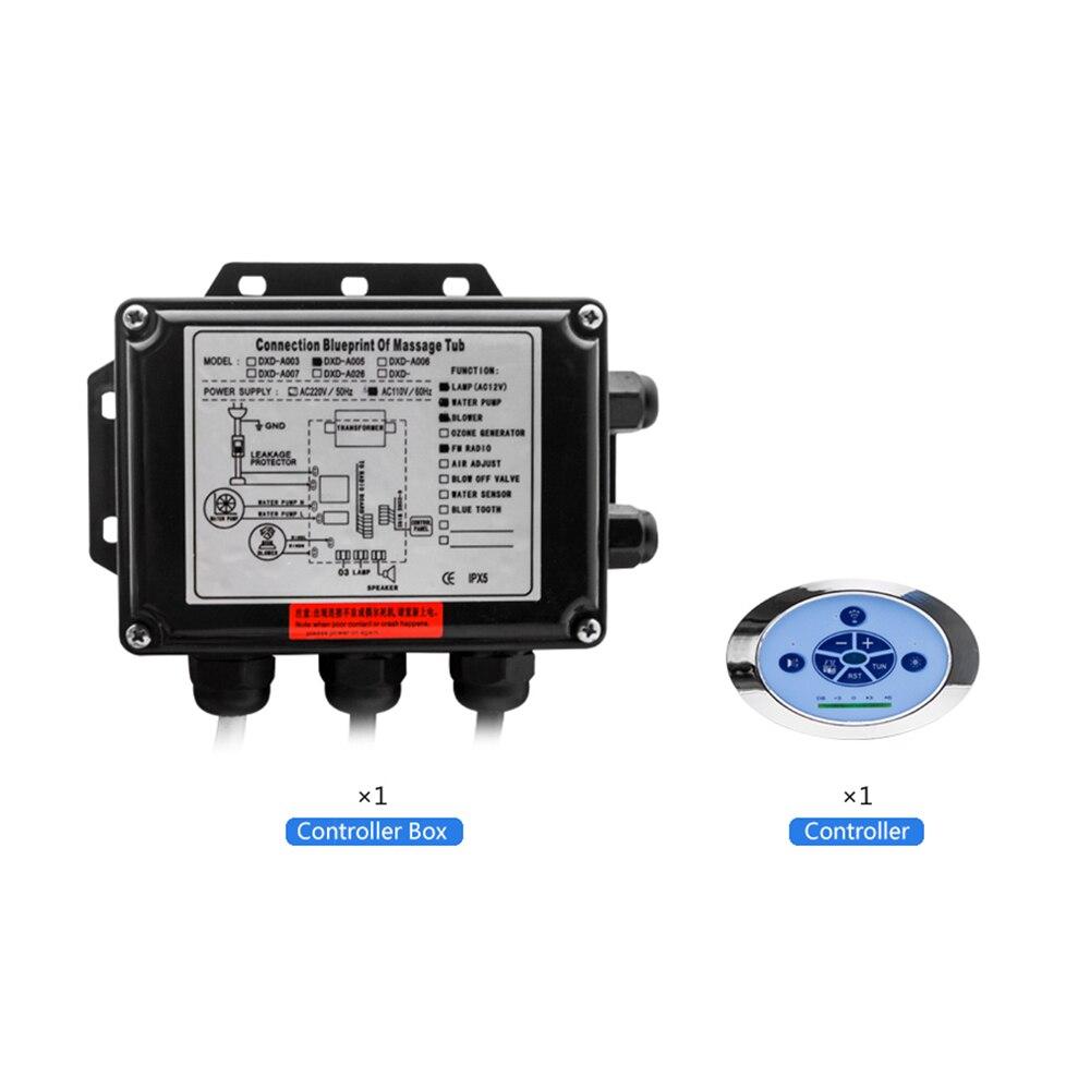 110//220V Spa Control Panel w// LCD Screen Bathtub Control System for Hot Tub IPX5